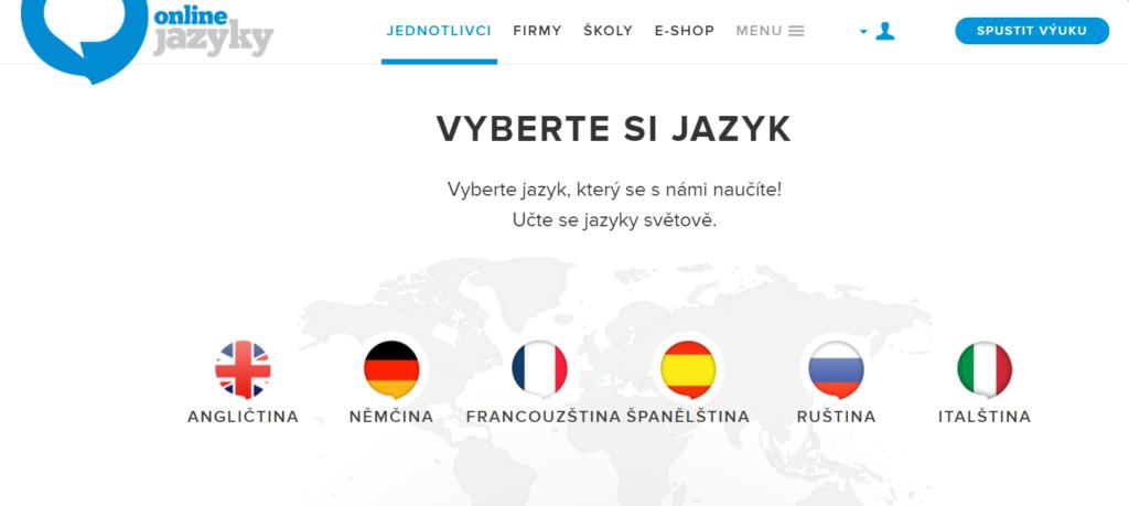 Online jazyky nabídka kurzů