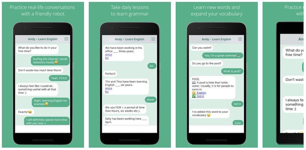 Andy – English bot - aplikace na angličtinu