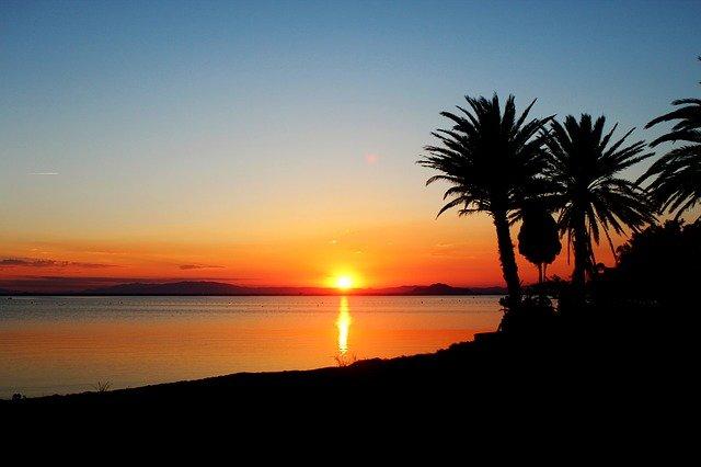 Šapnělsko západ slunce